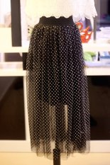 Fairy Spring Polka Dot Tutu Skirt Gauze Skirts Black White Point On Line