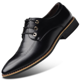 Sale Men S English Style Fleece Lined Business Faux Leather Shoe 1761 Black 1761 Black Oem