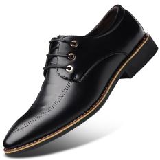 Shop For Men S English Style Fleece Lined Business Faux Leather Shoe 1761 Black 1761 Black
