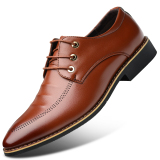 Best Offer Men S English Style Fleece Lined Business Faux Leather Shoe 1761 Brown 1761 Brown