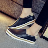 Sale Loafers Leather Spring And White Shoes Black Black Oem Original