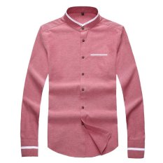 Price Korean Style Spring Slim Fit New Style Top Shirt Red Wine Oem China