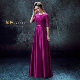 Price Comparisons Women S Long Red Gown Purple Sleeve Purple Sleeve