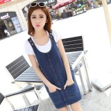 Female Students In The Long Section Denim Spring Dress Strap Dress Coupon Code