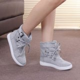 Low Cost Spring And Autumn New Style High Top Lace Student Flat Canvas Shoes