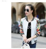 Discount New Style Spring And Autumn Baseball Clothes Korean Style Long Sleeved Jacket White Flowers Sleeve Oem
