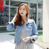 Sale New Style Plus Sized Slim Fit Short Paragraph Denim Jacket Oem Wholesaler
