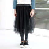 Cheaper 2017 Autumn And Winter New Girls Korean Version Of The Children S Clothing Peng Yarn Bust Skirt Culottes Children S Fake Two Piece Bottoming Pants