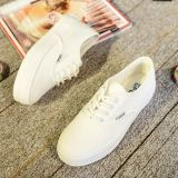 Price Comparisons Ulzzang Versatile Spring New Style Leather Sneakers Female Models Thick Crust White