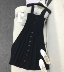 How Do I Get Breasted Bra Straps Knit Dress Skirt Atmospheric Black