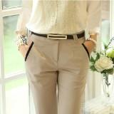 Buy Korean Style Slim Fit Slimming Skinny Women S Pants Women S Pants Light Beige Light Beige Online