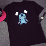 Sale Lilo Stitch Summer A New Short Sleeve T Shirt Black T032 Lilo On China