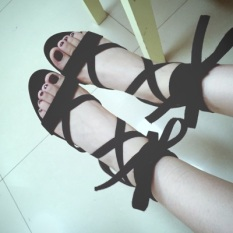 Cheapest Shoes Summer Thick With Ankle Gel Toe Straps A Word With Sandals Black Black