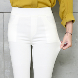 Women S Slim Fit Skinny Pants Color Varies Milky White Compare Prices