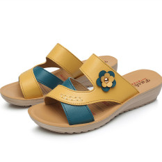 Fashion Flat Heel Pregnant Women S Non Slip Women S Slippers 133 Flower Yellow China