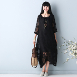 Compare Women S Hallow Out Lace Maxi Skirt White Red Black Black Black Prices