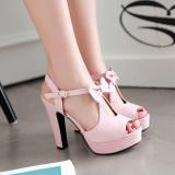 Review Women S Butterfly High Heel Casual Shoes Black Slip Bottom Black Slip Bottom Oem On China