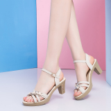 For Sale Korean Style Heeled Women S Open Toed Summer Women Shoes Women S Sandals 086 Beige
