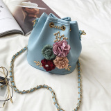 Zaixiang Women S Floral Zipper Bag Blue Blue Promo Code
