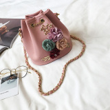 New Zaixiang Women S Floral Zipper Bag Pink Pink