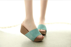 Purchase Leather Summer New Style Nubuck Sandals Green Online
