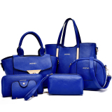 Women S Stylish Shoulder Crossbody Large Bag Set Of 6 Blue Blue Lower Price