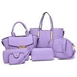 Buy Women S Stylish Shoulder Crossbody Large Bag Set Of 6 Violet Violet Online