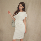 Debutante Ol Elegant Round Neck Sleeveless Dress Best Price