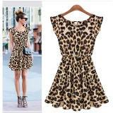 Sale 2017 Summer S*Xy Leopard Sleeveless O Neck Dresses Intl Online On China