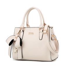 Cheaper Women S Stylish Large Capacity Butterfly Knot Flower Messenger Bag Bow Handbag Off White Color Bow Handbag Off White Color