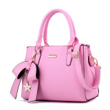 Best Women S Stylish Large Capacity Butterfly Knot Flower Messenger Bag Bow Handbag Pink Bow Handbag Pink