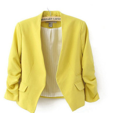 Who Sells The Cheapest Women S Short Suit Coat Yellow Yellow Online