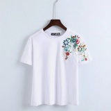 Buy 2017 Women Embroidery Floral Tshirt Euro Style Vintage Floral Tees Stretch Casual Basic Tops For Early Spring Summer Intl Cheap China
