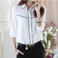 Best Rated 2017 Women Long Sleeve Casual Chiffon Shirts Ladies Business Ol White Shirt For Female Intl