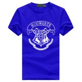 Compare Prices For 2018 Custom Cotton Men Hogwarts T Shirt Male Cotton Casual Short Sleeve Hip Hop Tops Tee Blue Intl