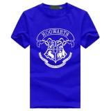 Get Cheap 2018 Custom Cotton Men Hogwarts T Shirt Male Cotton Casual Short Sleeve Hip Hop Tops Tee Blue Intl