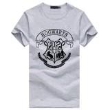 Get Cheap 2018 Custom Cotton Men Hogwarts T Shirt Male Cotton Casual Short Sleeve Hip Hop Tops Tee Grey Intl