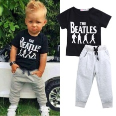c8efaeeb4516 2pcs Toddler Kids Baby Boy Girl Outfit Long Sleeve T-shirt Top+Pants Clothes