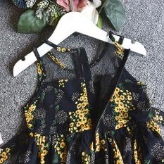 Discount 2Pcs Toddler Kids Baby G*rl Outfit Clothes Chiffon Floral Vest Dress Sun Hat Set Intl China