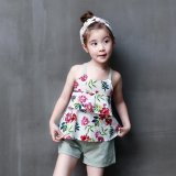 3 7 Yrs Girls Clothing Sets 2017 New Girls Summer Clothes Kids Cotton Beach Sleeveless T Shirt Shorts Children Clothing Sets Intl Compare Prices
