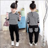 Wholesale 3 Children Wear Children S Clothing 4 Girls 5 Spring 6 Suit 2017 New 7 Students 8 G*rl 9 Sports Striped Autumn And Casual 10