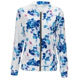 Cheapest 3 Colors Ladies Fashion Casual Floral Printed Bomber Jacket Coat S Xxl Intl