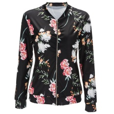 Compare 3 Colors Ladies Fashion Casual Floral Printed Bomber Jacket Coat S Xxl Intl