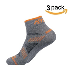 Sale 3 Pair High Elasticity Breathable Coolmax Men Cycling Socks Sport Running Hiking Bicycle Ankle Sock Grey Intl China