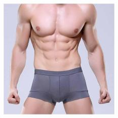 Sale 3 Pieces Men Modal Underwear Boxer Shorts Briefs Breathable Comfort Stretchy Trunks Modal Gray Intl Oem Branded