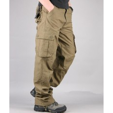 30-44 Plus Size High Quality Mens Cargo Pants Casual Mens Tactical Pant Multi Pocket Military Overall For Men Long Trousers - Intl By Yus Boutique.