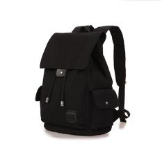 Lowest Price 360Wish Dxyizu Drawstring Canvas Backpack Rucksack Sch**l Bag Travel Bag Black