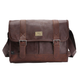 Sale 360Wish Three Box Casual Business Men Pu Leather Flap Over Cross Body Bag Messenger Shoulder Bag Briefcase Bag Dark Coffee 360Wish Original