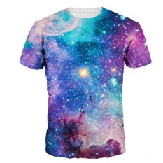 Top 10 3D Space Galaxy T Shirt For Men Women Digital Print Colorful Nebular Quick Dry Summer Tops Tees Tshirts Fashion Intl