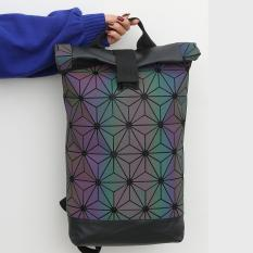 Buy 3D Prism Backpack Triangular Mesh Bag Roll Top Geometric Backpack Oem Cheap
